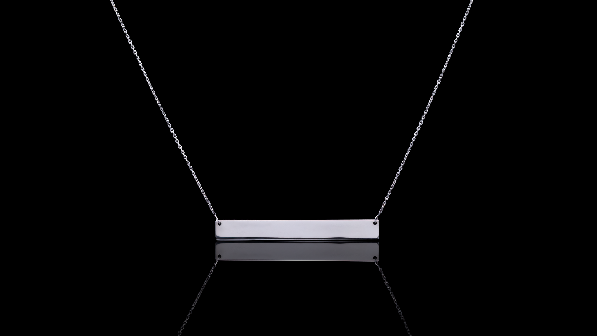 [SPECIAL] 10K White Gold Name Bar Necklace