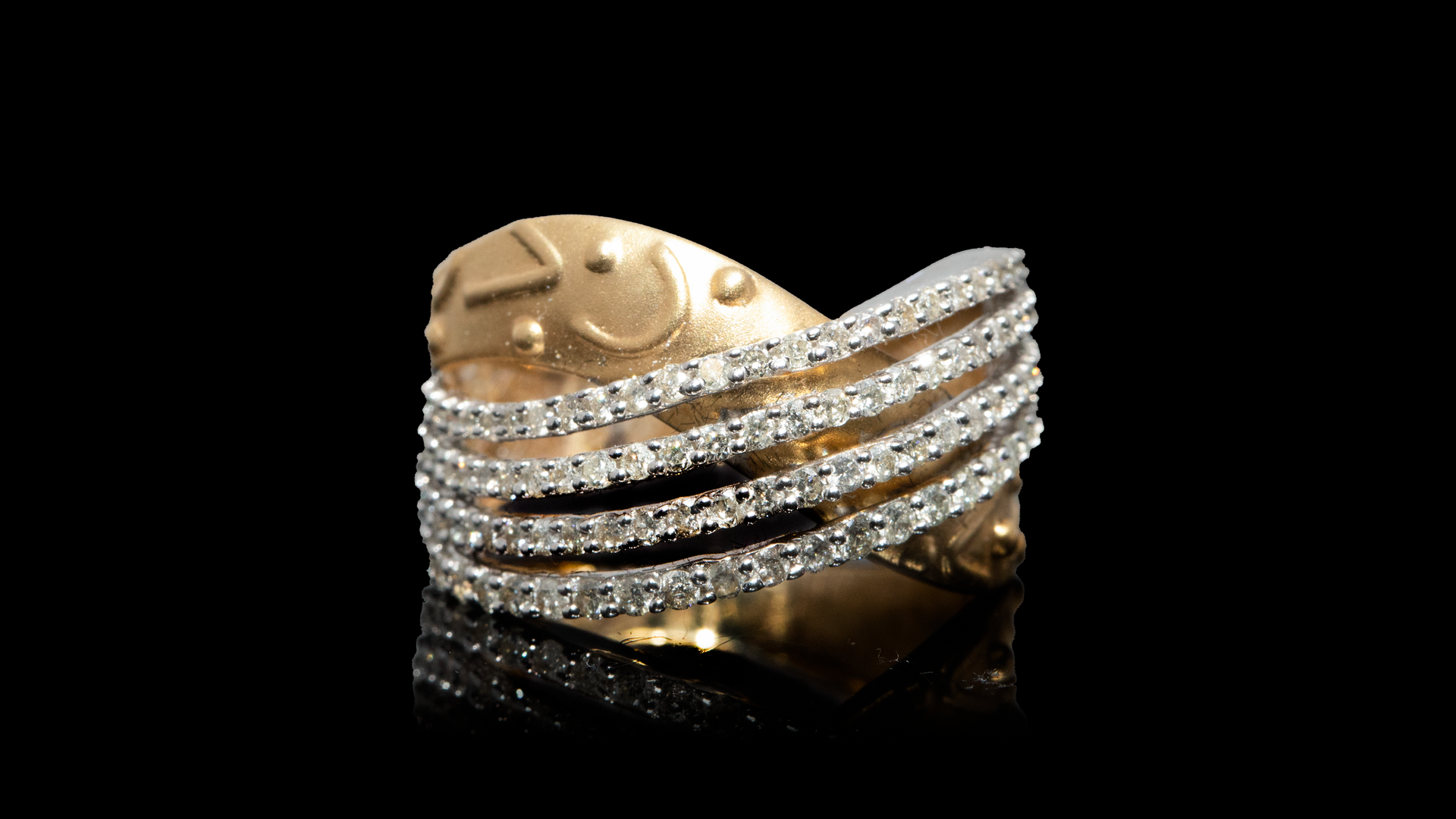 [SPECIAL] 14k Yellow Gold Cocktail Style Diamond Ring
