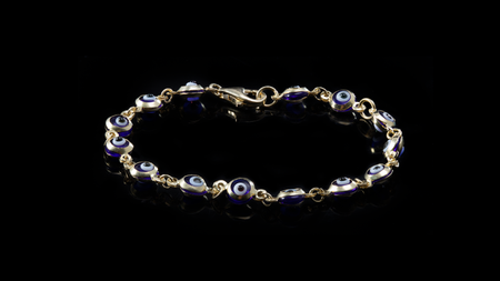 10k Yellow Gold Baby Eye Bracelet