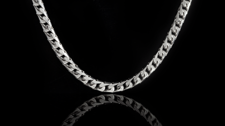 10k White Gold Basra Link Chain