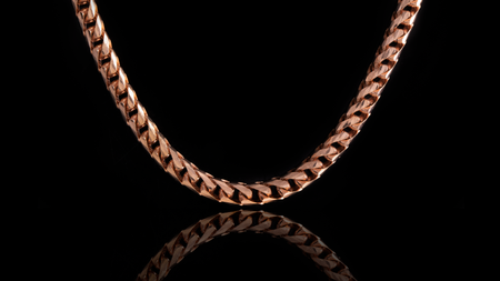 10K Rose Gold Basra Link Chain