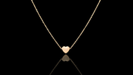 10K Yellow Gold Small Heart Necklace