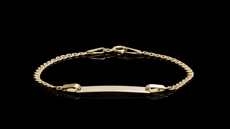 10K Yellow Gold Anchor Link ID Bracelet