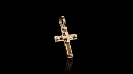 10k Yellow Gold Rope Cross Pendant