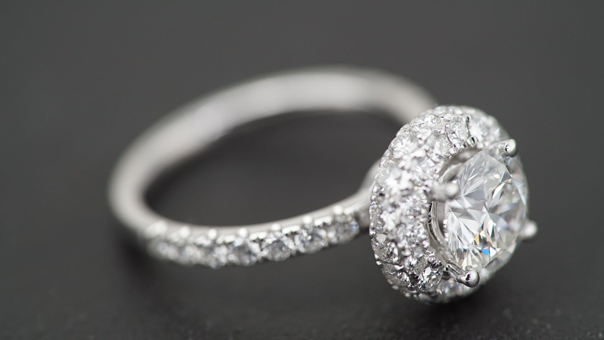 18K White Gold Double Round Halo Engagement Ring