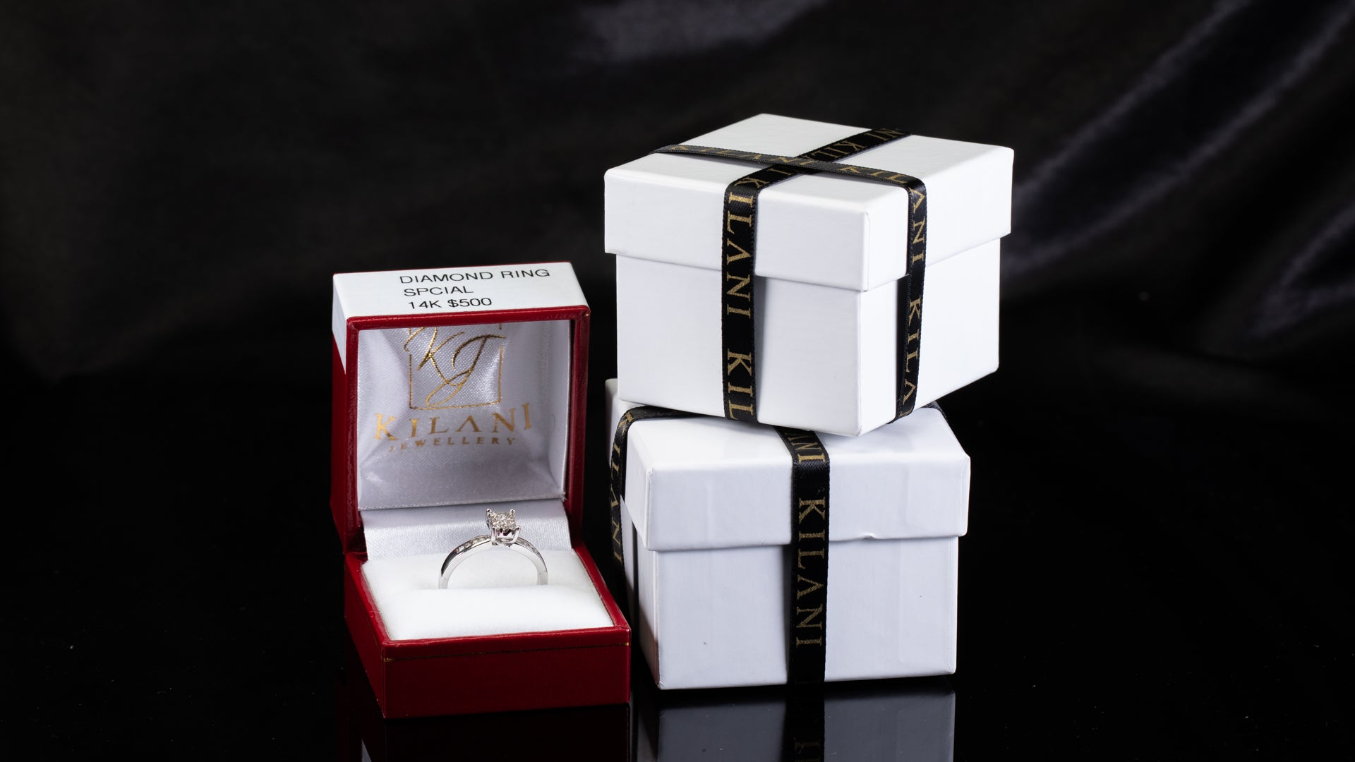 [SPECIAL] 14k White Gold Ladies Promise Diamond Ring