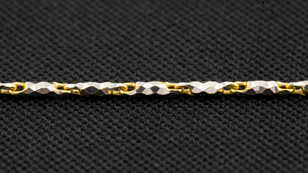 10k Two-Tone Gold Love Link Chain