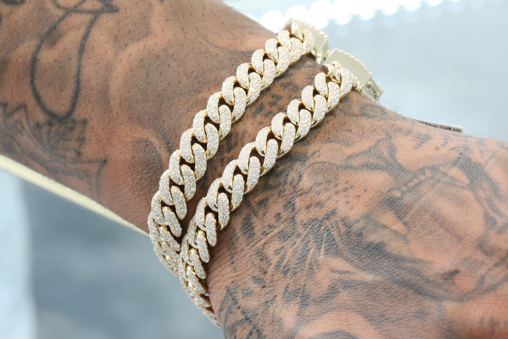 10K Yellow Gold ToranoMax Setting Cuban Link Diamond Bracelet