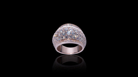10K Rose Gold 360 Galaxy Diamond Ring