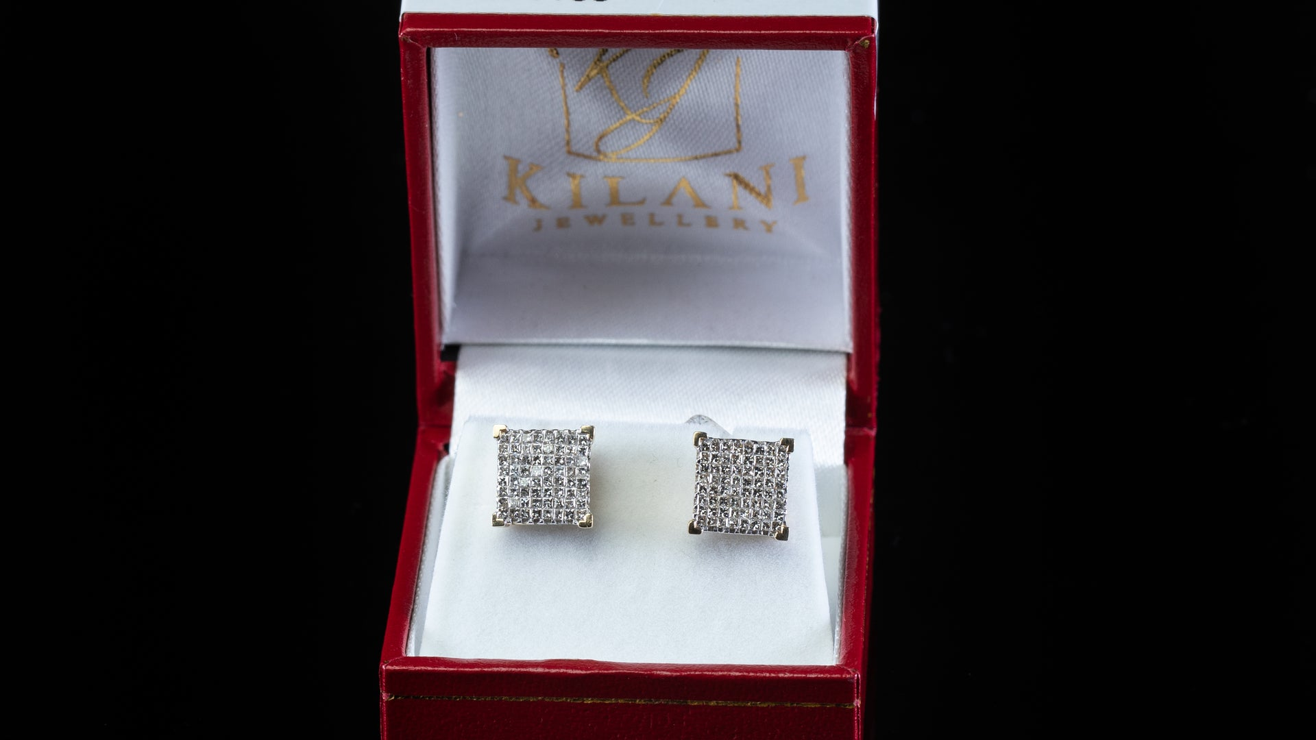 [SPECIAL] 14k Yellow Gold Square Point Diamond Earrings
