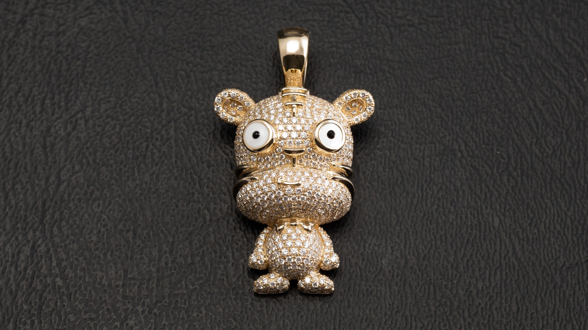 14k Yellow Gold Tiger Chinese Zodiac Diamond Pendant