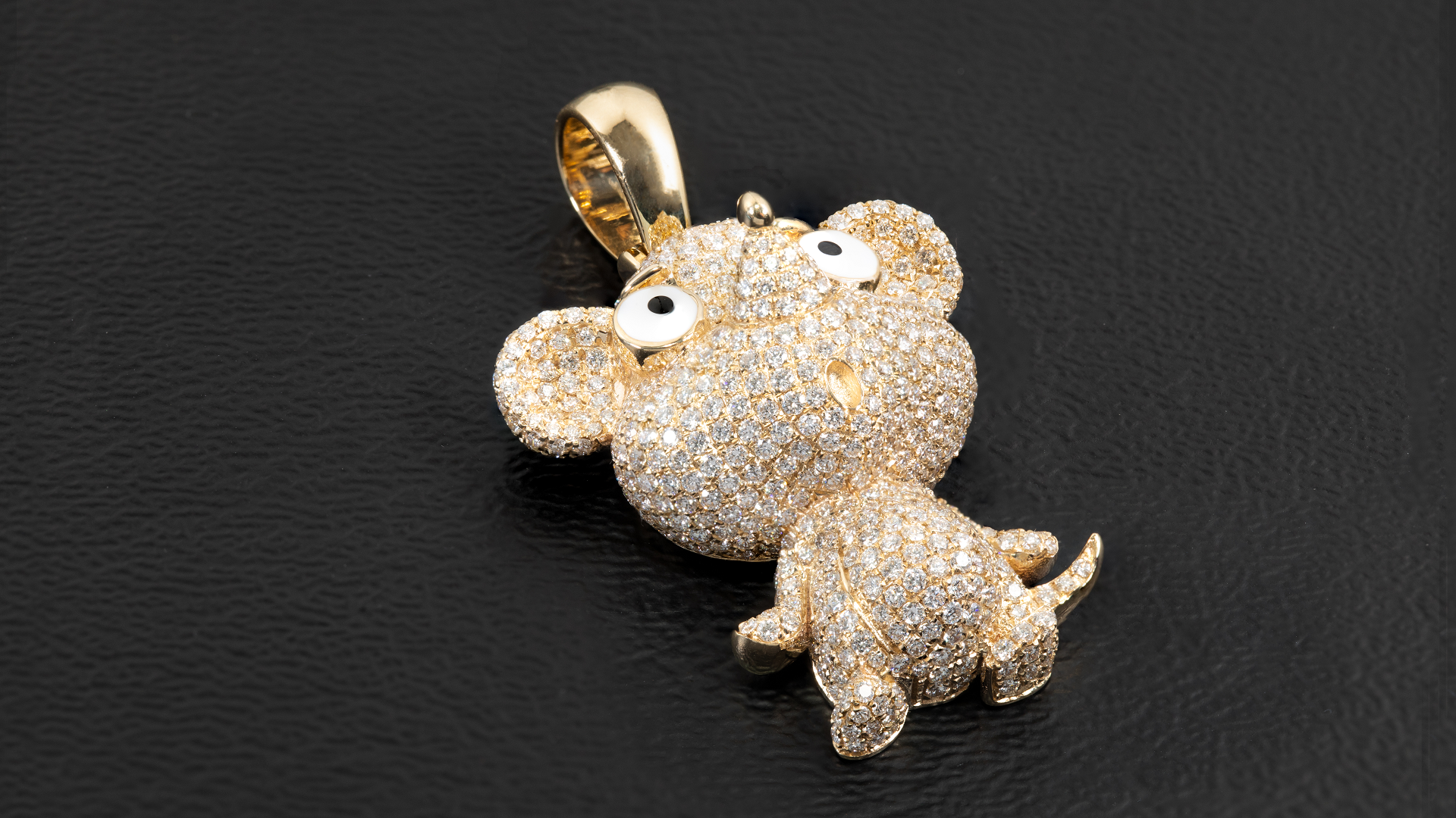 14k Yellow Gold Mouse Chinese Zodiac Diamond Pendant
