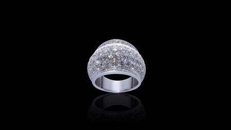 10K White Gold 360 Galaxy Diamond Ring