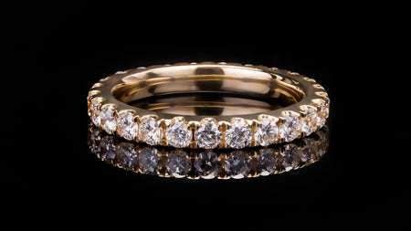 18k Yellow Gold Ladies Eternity Diamond Band Ring