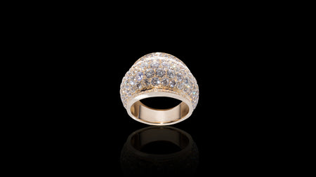10K Yellow Gold 360 Galaxy Diamond Ring