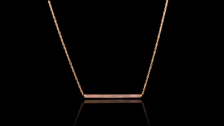 10K Rose Gold Bar Necklace