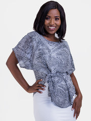 Vivo Val Chiffon Top - Black Print
