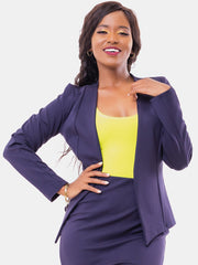 Vivo Victoria Panelled Jacket - Navy Blue