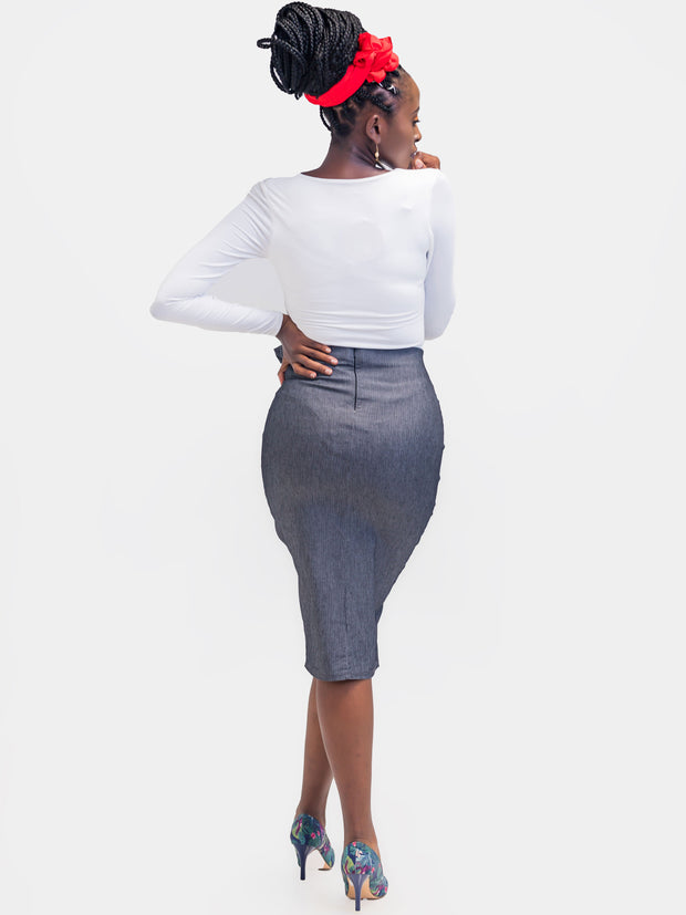 Vivo Desiree Tie Skirt - Grey