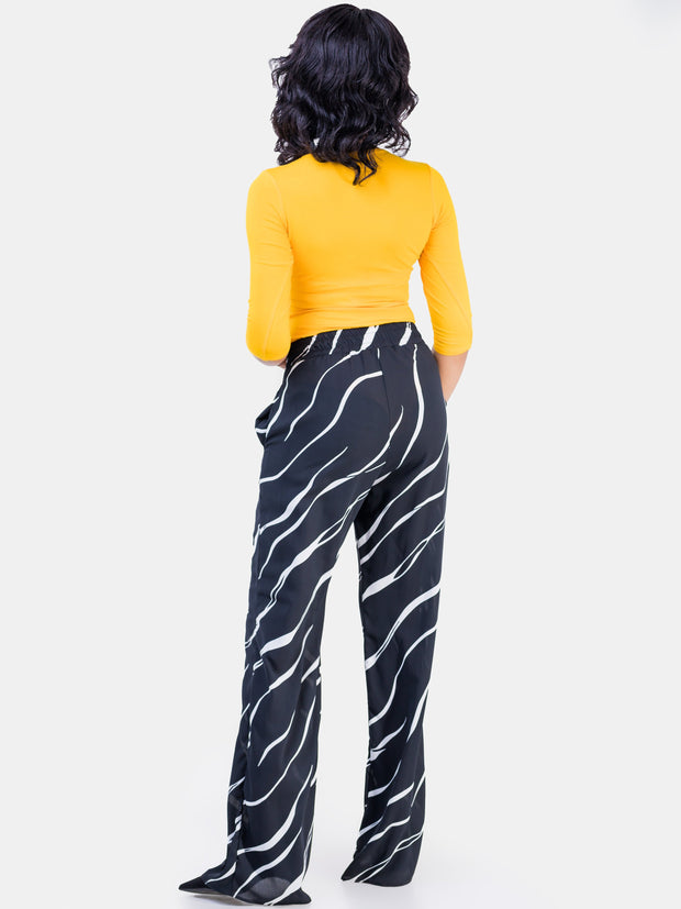 Vivo Black & White Nandi Lined Pants
