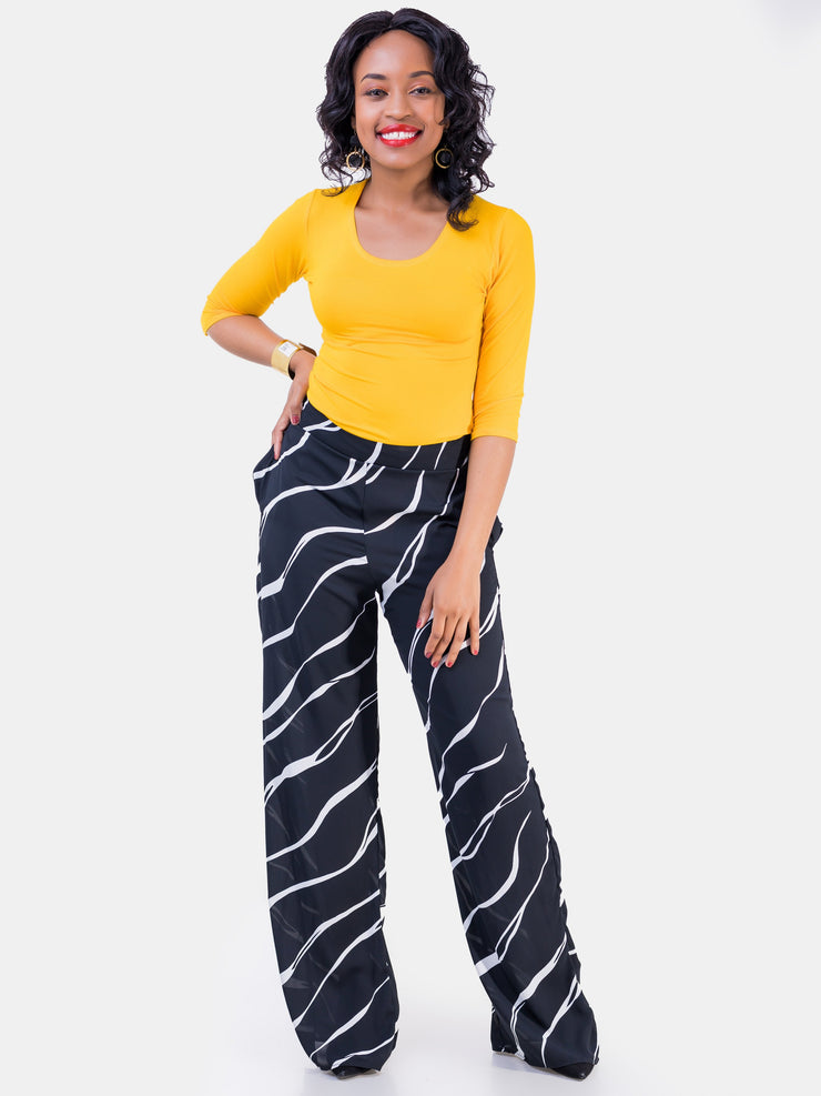 Vivo Nandi Lined Pants - Black & White Print