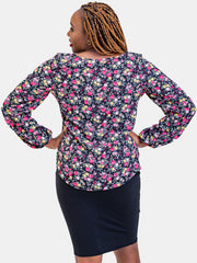 Vivo Basic Ayo Top - Rose Floral Print