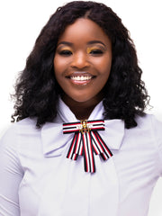 AfroDame Preppy Bow - Black / Red / White