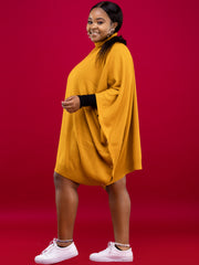 Spinners & Spinners Turtleneck Poncho - Mustard