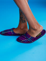 Crafts With Meaning House Sandals - Purple / Blue Print