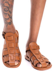 Ikwetta Barack Gladiator Sandals - Brown