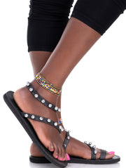 Ikwetta Rockstud Sandals - Black