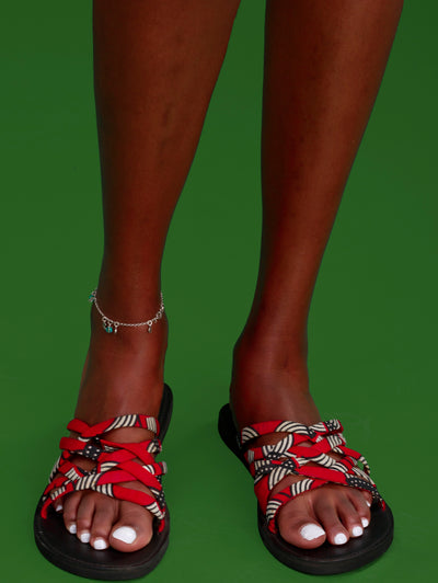 Ikwetta Clotho Sandals - Black / Red