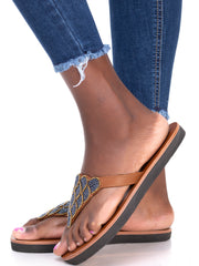 Sadiki Nakuru Gun Metal Sandals - Black