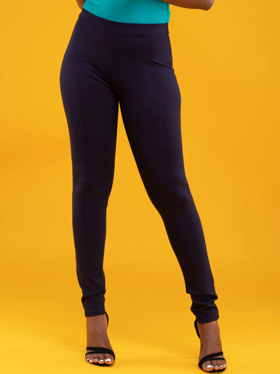Vivo Basic Leisure Pants - Navy Blue