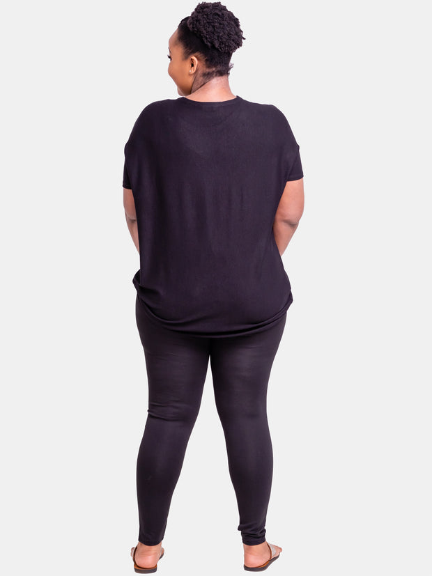 Zetu Capri Leggings - Black