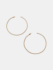 Kipato Large Braided Hoops - Gold