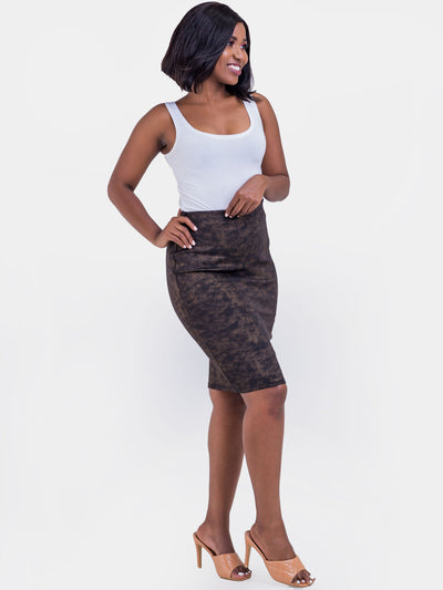 Vivo Naila Pencil Skirt - Gold