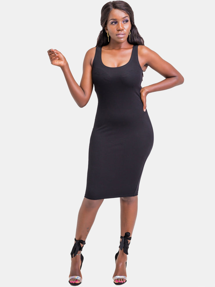 Zetu Basic Bodycon - Black - Shop Zetu