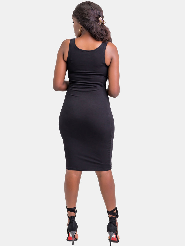 Zetu Basic Bodycon - Black