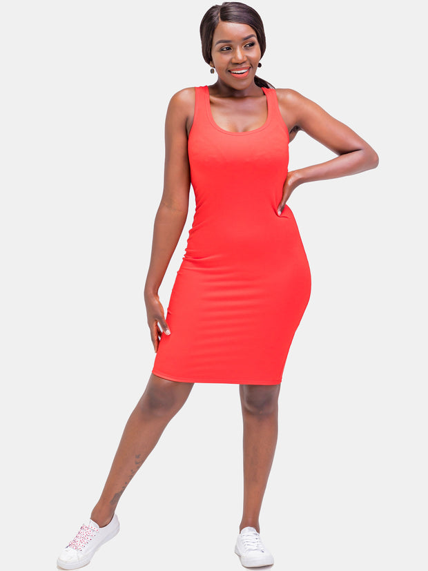 Zetu Basic Bodycon - Rust