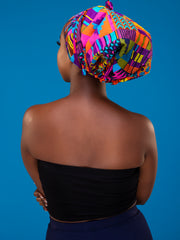 Nywele Chronicles Nile Bonnet - Purple / Yellow Print