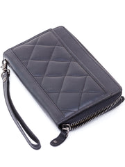 Ranks Leather Ladies' Purse - Black Cross Stitch