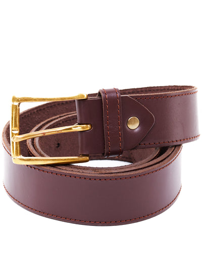 Ranks Leather Belt With Lining - Chocolate