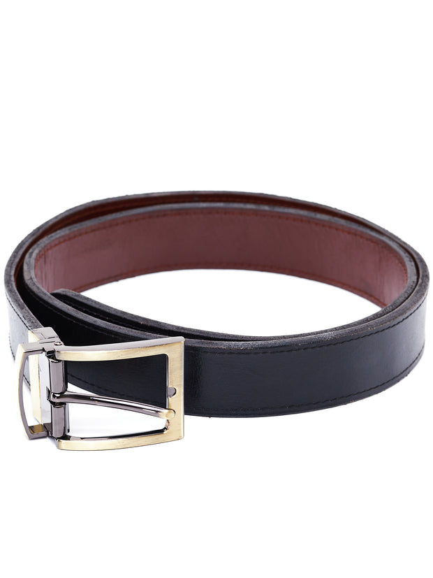 Ranks Leather Plain Belt (no lining) - Black