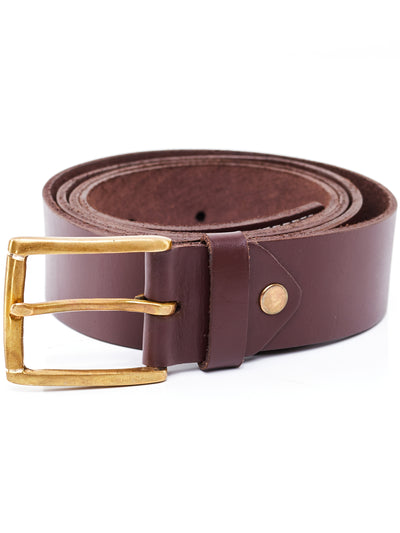 Ranks Leather Plain Belt (no lining) - Chocolate