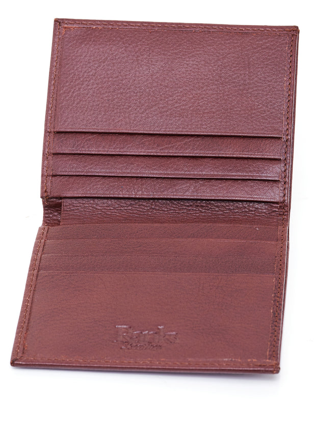 Ranks Leather Small Leather Wallet - Brown Nakuru