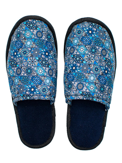 Kitu Kali Bahari Bedroom Slippers - Blue Print