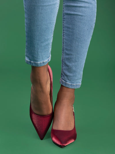 City Walk CT651 Ladies' Heels - Maroon