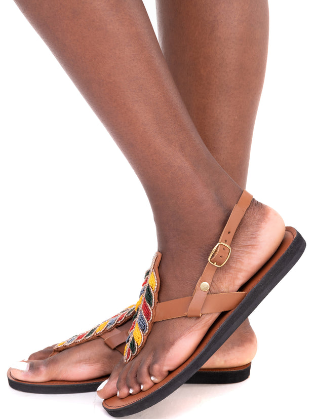 Ikwetta Fall Sandals - Caramel