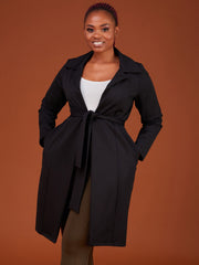 Safari Basic Trench Coat - Black